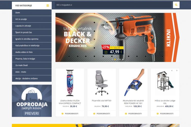 MojPaket spletna trgovina